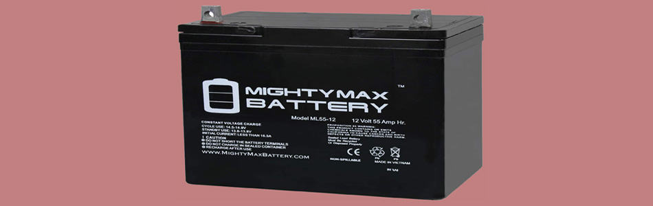 Mighty Max 12V 55AH Marine Boat Battery