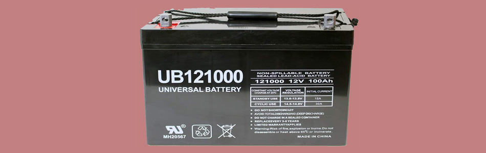Universal Trolling Boat Battery with 12V 100AH Capacity