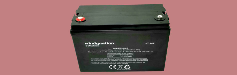 WindyNation 100AH 12V Deep Cycle AGM battery